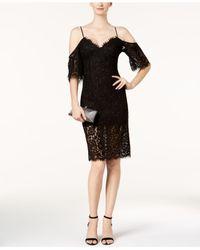 Bardot - Black Karlie Lace Off-the-shoulder Dress - Lyst