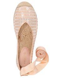 Avec Les Filles - Pink Georgie Tie-up Espadrille Flats - Lyst