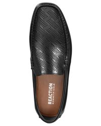 Kenneth Cole Reaction - Black Men's Status Symbol Perforated Drivers for Men - Lyst