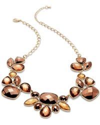 INC International Concepts | Metallic Necklace, Gold-tone Bronze Beaded Frontal Necklace | Lyst