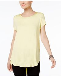 Alfani | Yellow Top, Short-sleeve High-low Tee | Lyst