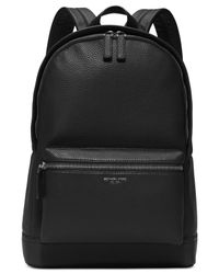 d2e92a367c62 Lyst - Michael Kors Bryant Pebble Leather Backpack in Black for Men