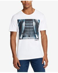 DKNY - White Graphic-print T-shirt, Created For Macy's for Men - Lyst