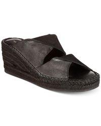 Kelsi Dagger Brooklyn | Black Inwood Wedge Sandals | Lyst