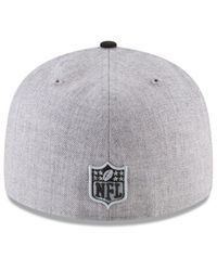 KTZ - Black Oakland Raiders Draft Low Profile 59fifty Fitted Cap for Men - Lyst