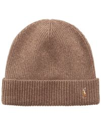 Polo Ralph Lauren | Brown Hat, Wool Signature Cuff for Men | Lyst