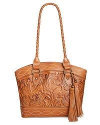 Patricia Nash - Metallic Burnished Tooled Zorita Satchel - Lyst