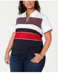 Tommy Hilfiger - White Plus Size Zippered Polo, Created For Macy's - Lyst