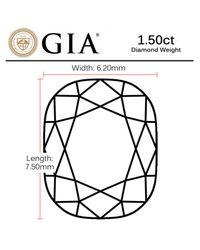 Macy's - Multicolor Gia Certified Diamond Cushion (1-1/2 Ct. T.w.) - Lyst