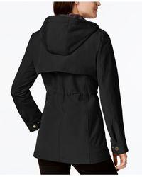 Calvin Klein - Black Layered Softshell Coat - Lyst
