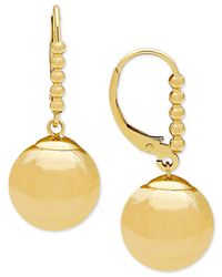 Macy's - Metallic Beaded Dangle Ball Drop Earrings In 14k Gold - Lyst