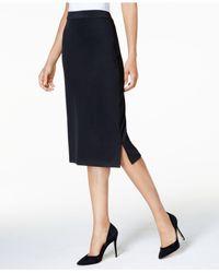 Kasper - Black Knit Midi Skirt - Lyst