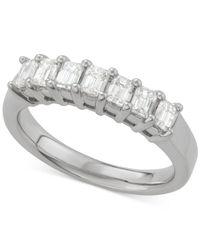 Macy's - Metallic Diamond Seven Stone Ring (1 Ct. T.w.) In 14k White Gold - Lyst