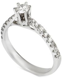 Macy's | Metallic Diamond Engagement Ring (7/8 Ct. T.w.) In 14k White Gold | Lyst