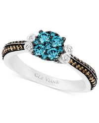Le Vian - Blue And Chocolate Diamond (5/8 Ct. T.w.) And Diamond Accent Ring In 14k White Gold - Lyst
