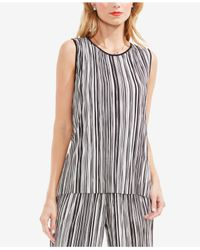Vince Camuto - Black Striped Top - Lyst