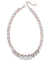 Charter Club - Pink Crystal Collar Necklace, Created For Macy's - Lyst