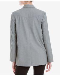 Max Studio   Gray Printed Long-sleeve Blazer   Lyst
