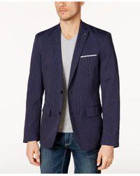 INC International Concepts | Blue Men's Classic-fit Pinstriped Blazer for Men | Lyst