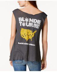 Junk Food - Gray Cotton Blondie Tour 1982 Graphic-print Tank Top - Lyst