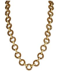 Kate Spade   Metallic Out Of Her Shell Gold-tone Tortoiseshell-look Long Necklace   Lyst