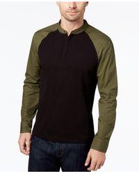 Daniel Hechter - Black Men's Colorblocked Long-sleeve Polo for Men - Lyst