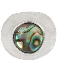 Robert Lee Morris - Metallic Silver-tone & Stone Statement Ring - Lyst