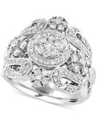 Effy Collection - Metallic Bouquet By Effy Diamond Ring (1-1/10 Ct. T.w.) In 14k White Gold - Lyst