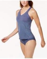 Nike - Blue High-waist Swim Bottoms - Lyst