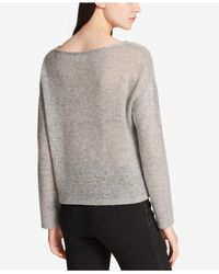 DKNY - Gray Crewneck Sweater, Created For Macy's - Lyst