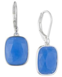 Nine West - Blue Stone Drop Earrings - Lyst