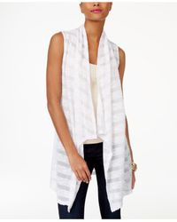 INC International Concepts | White Illusion-stripe Vest | Lyst