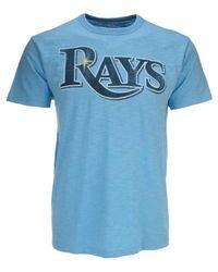 47 Brand Blue Men's Tampa Bay Rays Scrum Wordmark T-shirt for men