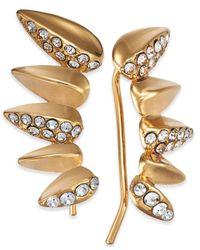 INC International Concepts - Metallic Gold-tone Pavé Ear Climbers - Lyst