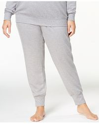 Alfani - Gray Plus Size Ribbed-cuff Pajama Pants, Created For Macy's - Lyst