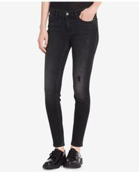 Calvin Klein Jeans - Black Calvin Klein Ripped Skinny Jeans - Lyst
