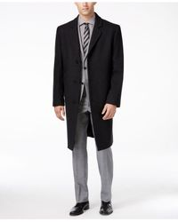London Fog - Gray Big And Tall Signature Wool-blend Overcoat for Men - Lyst