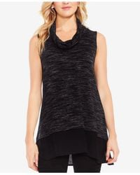Vince Camuto | Black Layered-look Space-dyed Tunic | Lyst