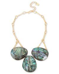 Robert Lee Morris - Multicolor Gold-tone Abalone Stone Statement Necklace - Lyst