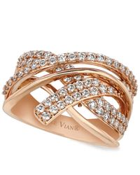 Le Vian - Pink Diamond Diamond Crossover Ring (9/10 Ct. T.w.) In 14k Rose Gold - Lyst
