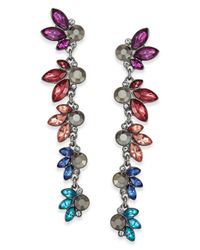 INC International Concepts - Multicolor Hematite-tone Multi-stone Linear Drop Earrings - Lyst