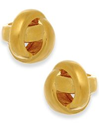 Kate Spade - Metallic Gold-tone Knot Stud Earrings - Lyst