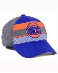 Adidas Blue New York Knicks Tri-color Flex Cap for men
