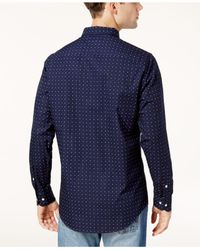 Tommy Hilfiger - Blue Men's New York-fit Printed Shirt for Men - Lyst