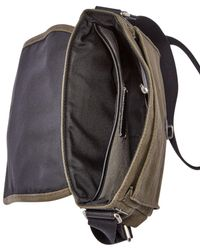 Fossil - Green Davis North South Bag for Men - Lyst