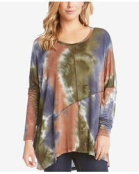 Karen Kane - Multicolor Tie-dyed High-low Top - Lyst