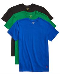 Polo Ralph Lauren - Blue Men's 3-pk. Cotton Crew T-shirts for Men - Lyst