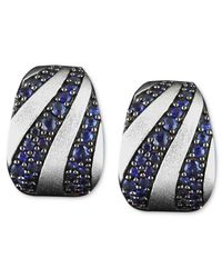 Effy Collection - Blue Sapphire Stripe Mini Hoop Earrings (2-3/8 Ct. T.w.) In Sterling Silver - Lyst