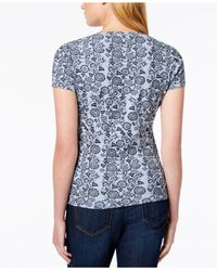 Tommy Hilfiger - Blue Cotton Printed T-shirt, Created For Macy's - Lyst
