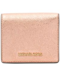 Michael Kors - Pink Money Pieces Flap Card Holder - Lyst